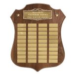 Antique Bronze Laurel Wreath Plaque Achievement Awards