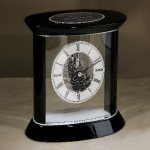 Silver Accents Carriage Clock Boss Gift Awards