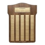 Antique Bronze Frame Perpetual Employee Awards