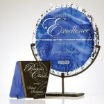 Jeweled Art Glass Plate Executive Gift Awards