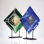 Art Glass Plate Executive Gift Awards