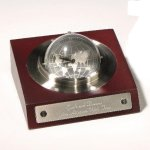 Desk Clock Spinner Executive Gift Awards
