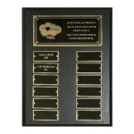Matte Black Perpetual Plaque Fire and Safety Awards