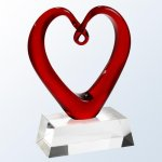 The Whole Hearted (Clear Base) Heart Awards