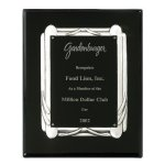 Ebony & Antique Silver Frame Plaque Sales Awards