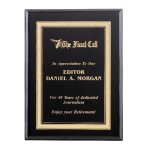 Ebony Piano Finish Plaque Sales Awards
